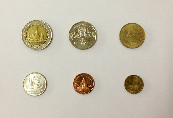 Temples on coins